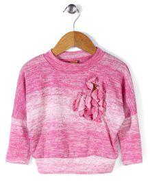 Little Kangaroos Full Sleeves Sweater Top - Light Pink