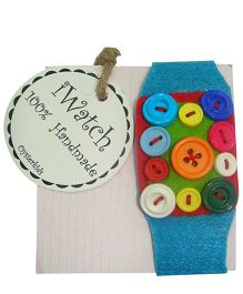 Oyster Kids Friendship Band I Watch My Button - Blue