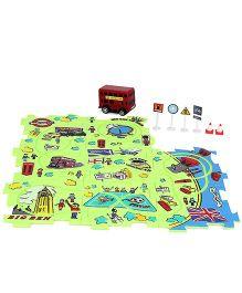 Buzz Retail Puzzle Car Bus Track Set - Multicolor