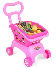 Comdaq Grocery Shopping Cart Pink - 85 Pieces