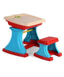Comdaq My Own Learning Desk And Easel - Blue And Red
