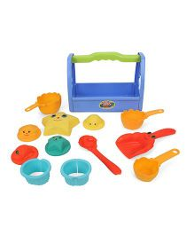 Comdaq Beach Toys In Box With Handle - 12 Pieces