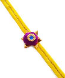 Soulfulsaai Pompom Rakhi - Purple
