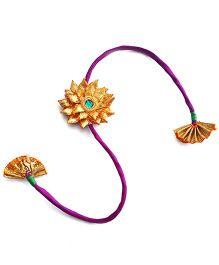 Soulfulsaai Gota Flower Rakhi - Purple
