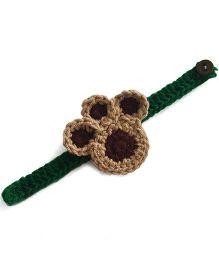 Soulfulsaai Kids Crochet Paws Rakhi - Brown