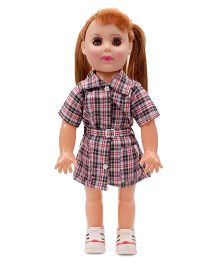 Speedage Doll With Checkered Outfit Multicolor - 18 Inches