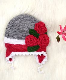The Original Knit Flower Knitted Cap - Magenta