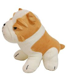 Surbhi Bull Dog Soft Toy White And Brown - 20 cm