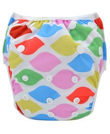 Wanna Party Swim Diaper Fun In The Sun Theme Print Large - Multicolor