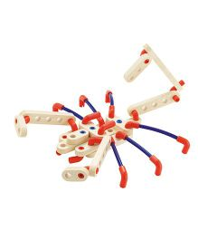 Sevi System Bugs Wooden Construction Kit - Cream Red Blue