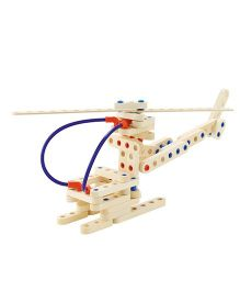 Sevi System Air Vehicles Wooden Construction Kit - Cream Red Blue