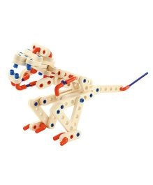 Sevi System Evolution Wooden Construction Kit - Cream Red Blue