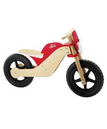 Sevi Wooden Moto Balance Bike - Red & Cream
