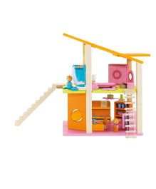 Sevi Doll's House With Furniture Small - Multicolor