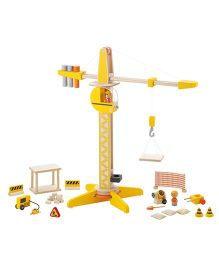 Sevi Wooden Building Site Toys Yellow - 28 Pieces