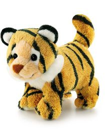 Trudi Sw Col Tiger Soft Toy Brown & White - 9 cm