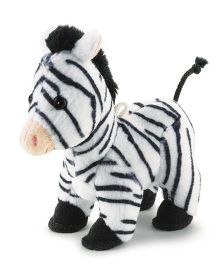 Trudi Sw Col Zebra Soft Toy Black & White - 9 cm