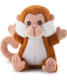 Trudi Sw Col Monkey Soft Toy Brown & White - 9 cm