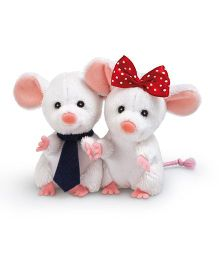 Trudi Assorted Mouse Couple Soft Toy White - 9 cm