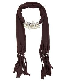 Home Union Fashionable Pendant  Jewellery Scarf - Brown