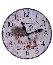 Home Union Designer Vintage Wall Clock - Grey