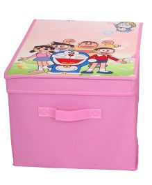 Doraemon Big Storage Box With Lid - Pink