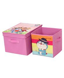 Doraemon Combo Storage Boxes Set - Pink