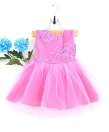 Tiny Toddler Embroidered Dress - Purple