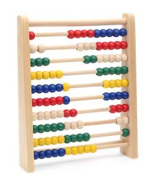 Bino Big Wooden Counting Frame - Multicolor