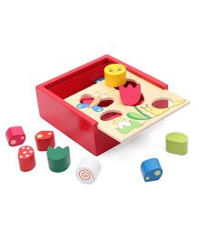 Shape Sorting Box Meadow Wooden Multicolor - 18 Pieces
