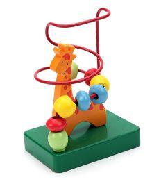 Bino Wooden Bead Maze Giraffe - Multicolor