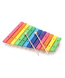 Bino 12 Tone Wooden Xylophone - Multicolor