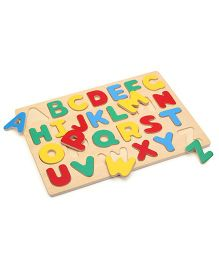 Bino Alphabet Wooden Puzzle Set - Multicolor