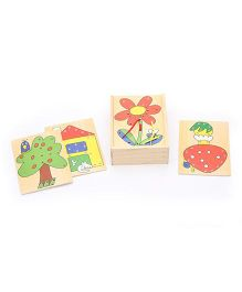 Bino Wooden Threading Box - 4 Pieces