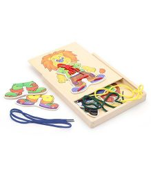 Bino Wooden My First Sewing Kit Lion - Multicolor