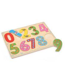 Bino Wooden Number Puzzle Set - Multicolor