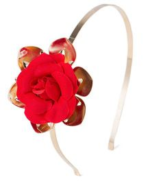 Treasure Trove Flower Hairband - Red