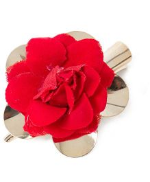 Treasure Trove Rose Alligator Clip - Red