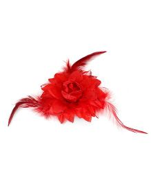 The KidShop Fiery Flower Hair Clip - Red