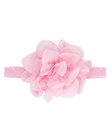 The KidShop Lace Chiffon Headband - Light Pink