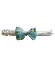 Akinos Kids Net Bow With Beads Headband - Sky Blue