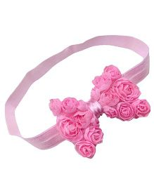 Akinos Kids Floral Bow Headband - Pink