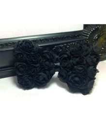 Akinos Kids Floral Bow Headband - Black