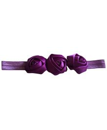 Akinos Kids Rosette Flower Headband - Dark Purple