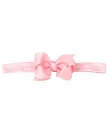 Akinos Kids Carnation With A Bow Headband - Pink