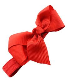 Akinos Kids Carnation With A Bow Headband - Red