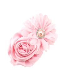 Akinos Kids Rose Lace Flower Headband - Pink