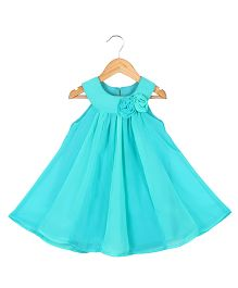 Soul Fairy Two Coloured Godget Dress With Corsage - Blue