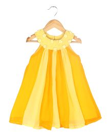Soul Fairy Two Coloured Godget Dress With Corsage - Yellow