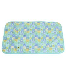1st Step Baby Mat Animal Face Print - Green